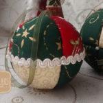 Bolas de Natal - Patchwork sem agulha