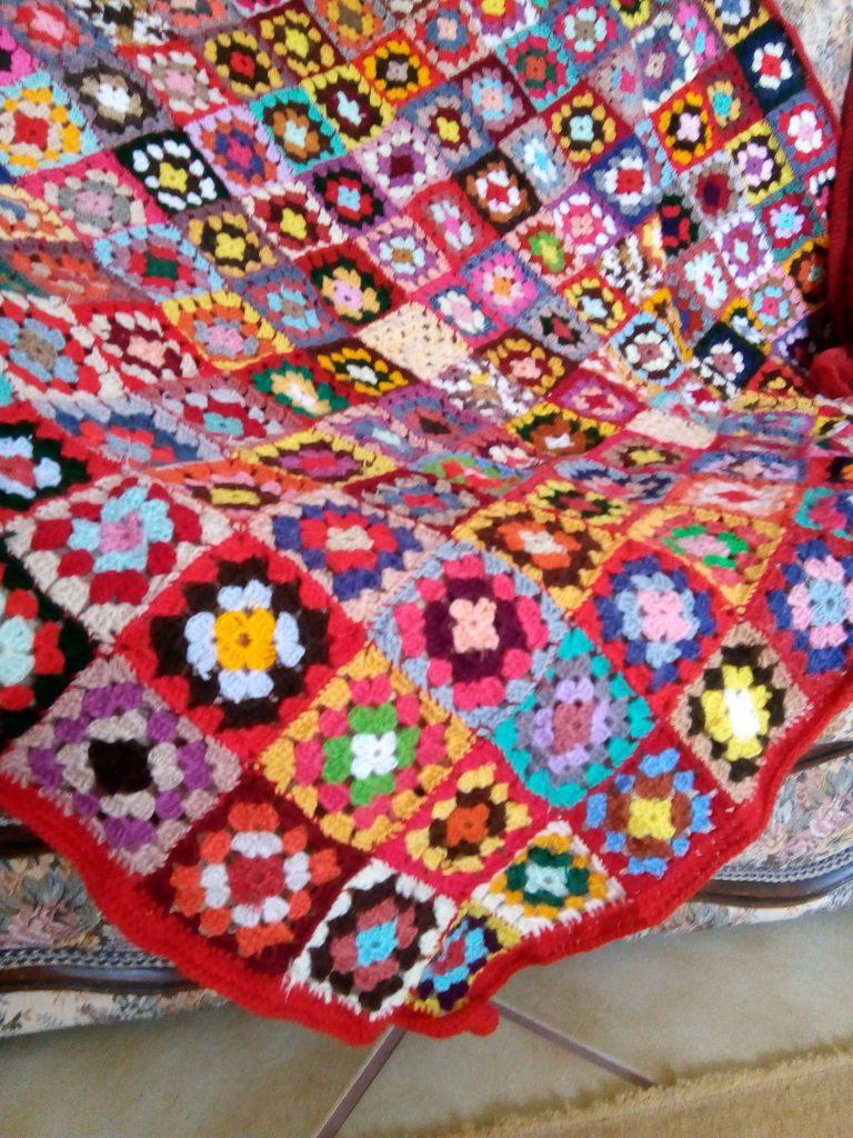 Manta Crochet de Lã