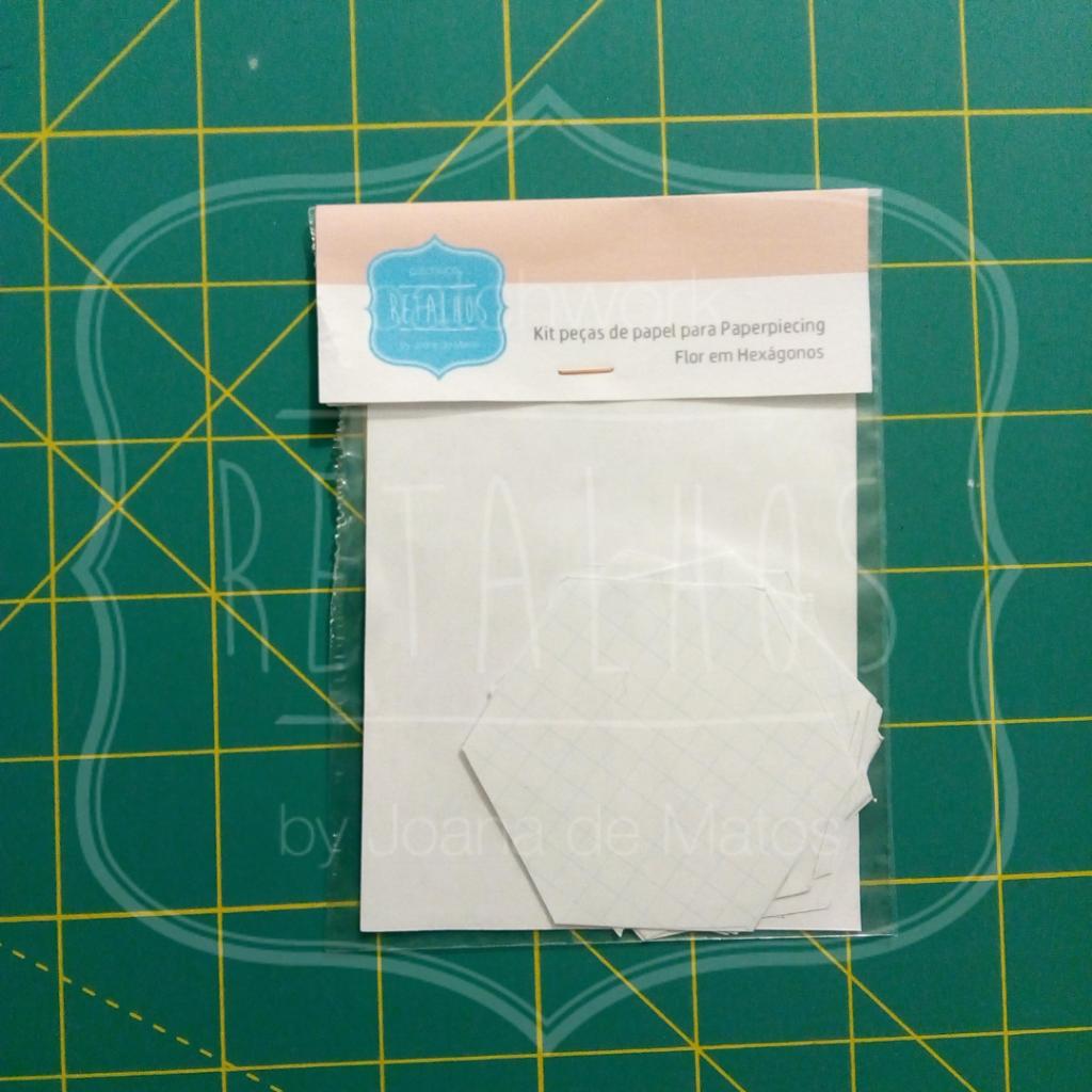 Kit peças de papel bloco flor